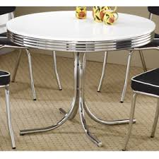 50s style kitchen table 1950s retro dining table metal chrome dinette round 50s style