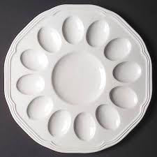 antique deviled egg plate mikasa antique white not bone at replacements ltd page 1