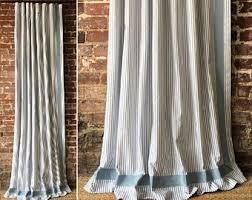 Ticking Stripe Curtains Ticking Curtains Etsy