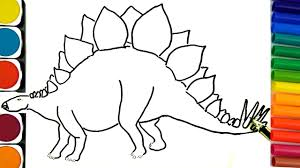 how to draw dinosaurs coloring pages how to draw and paint