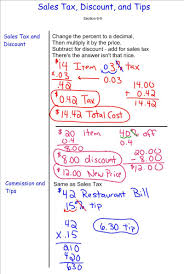discount sales tax tip 7th grade pre algebra mr burnett