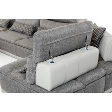 Gray Leather Sectional Sofa by Ferrari Panorama Italian Modern Grey Fabric U0026 Grey Leather