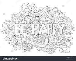 printable coloring page adults cartoon characters stock vector
