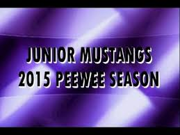 junior mustangs junior mustangs peewee 2015
