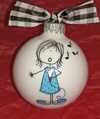 singer in the choir ornament choir