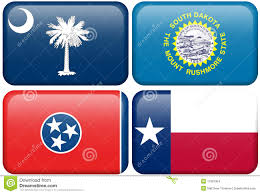 Flag Sc State Flags Sc Sd Tennessee Texas Stock Illustration