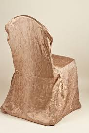 cloth chair covers chagne crushed shimmer chair covers