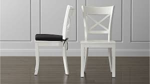 White Dining Chair Cushions Vintner White Wood Dining Chair And Cushion Crate And Barrel