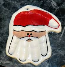 print santa salt dough ornament easy craft