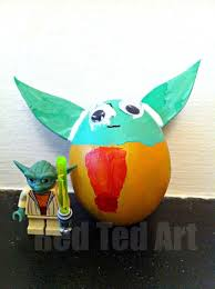 Easter Egg Decorations Ideas by Egg Decorating Ideas Yoda Easter Egg Red Ted Art U0027s Blog