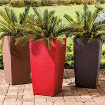 self watering rectangular planter set 20