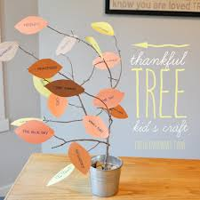 fun thanksgiving crafts for preschoolers thankful tree jpg