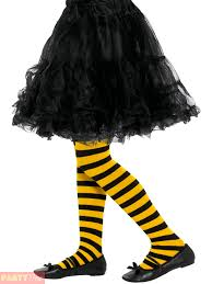 girls bumble bee ladybird tights child hosiery fancy dress kids