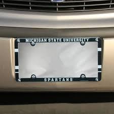 michigan state alumni license plate frame msu car decals michigan state license plates frames stickers