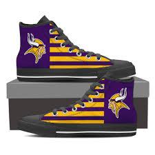 minnesota vikings home decor minnesota vikings america flag style high top shoes u2013 best funny store