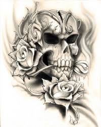 collection badass skull and roses drawings of designs ma an