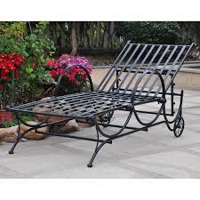woodard capri wrought iron multi position single outdoor chaise