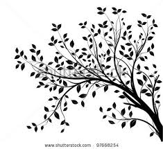 stock vector tree branches silhouette isolated white