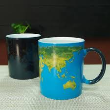 Best Coffee Mug Dhl Best Gifts Wake Up World Ceramic Heat Sensitive Magic Full