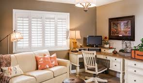home office window treatments 4 window treatment ideas for your home office sunburst shutters