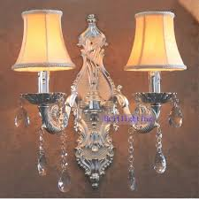 large brass wall sconce silver finish candles holder ktv wall lamp