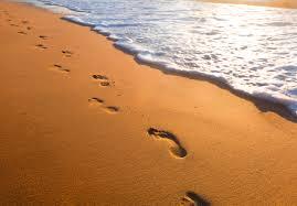 poem footprints sand faith radio