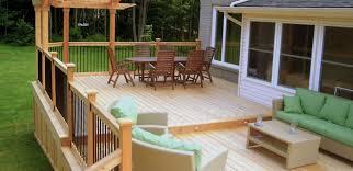 new simple backyard deck ideas with tub 2385