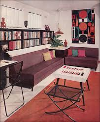 50s Design 50s Living Room Decor 1957 Modern Living Room With Wall Graphic