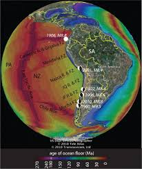 Topographical Map Of South America by Subducting Plate Topography And Nucleation Of Great And Giant