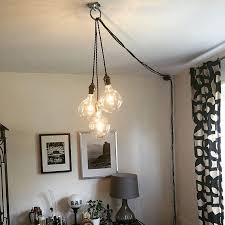 how to hang a pendant light with a cord unique plug chandelier for home modern hanging pendant l edison