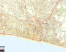 brighton offline street map including hove palace pier west