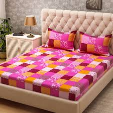 Bombay Dyeing Single Bed Sheets Online India Bombay Dyeing Cotton Checkered Double Bedsheet Buy Bombay Dyeing