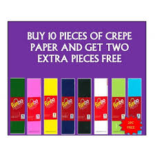 where to buy crepe paper offer