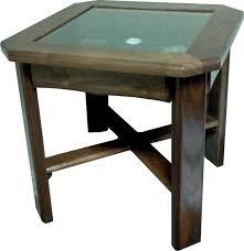 end table display glass top