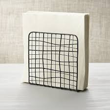 crate and barrel napkins bendt iron wire napkin holder in specialty serveware reviews