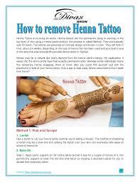 how to remove henna tattoo