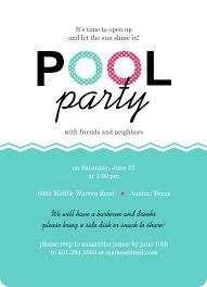pool invitation skyblue lifebuoy waves pool