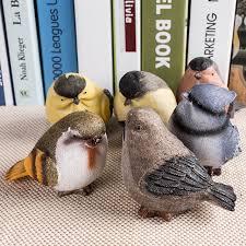 resin birds craft set of three small birds flower pot flower pet