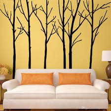 extra large black tree branches wall art mural decor sticker material pvc size 288 x200cm pack foam rod with poly bag usage home decor pattern large tree trunk