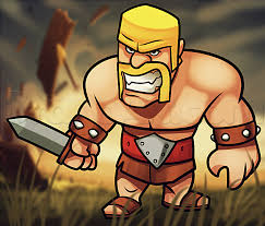how to draw clash of clans barbarian how to draw pinterest