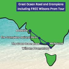 Map With Oceans Great Ocean Road Tours Day Trips U0026 Sightseeing One Stop Adventures