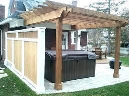 covered porch plans tub privacy ideas privacy pergola tub pergola privacy