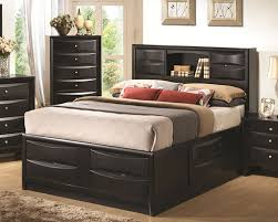Bunk Beds With Bookcase Headboards Black Storage Bedroom Furniture Store Chicago