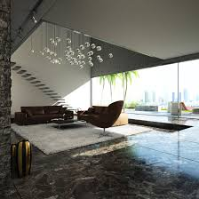 interior modern and cool staircase design with floating glass