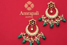 chandbali earrings online buy silver gold plated chandbali earrings with pearl drops online usa