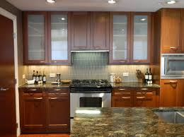 Kitchen Cabinet Doors With Glass Kitchen Design Interesting Glass Kitchen Cabinet Doors Ideas