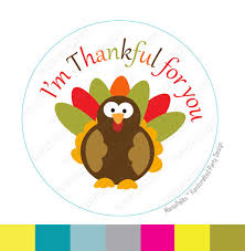 thanksgiving stickers i am thankful for you turkey stickers