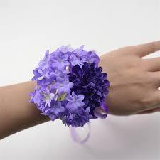 wrist corsage purple diy wedding bouquet wrist corsage flower bracelet for