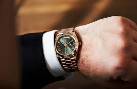 rolex day date 40 with green on review