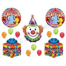 circus balloon circus clown happy birthday balloons decoration supplies party 1st